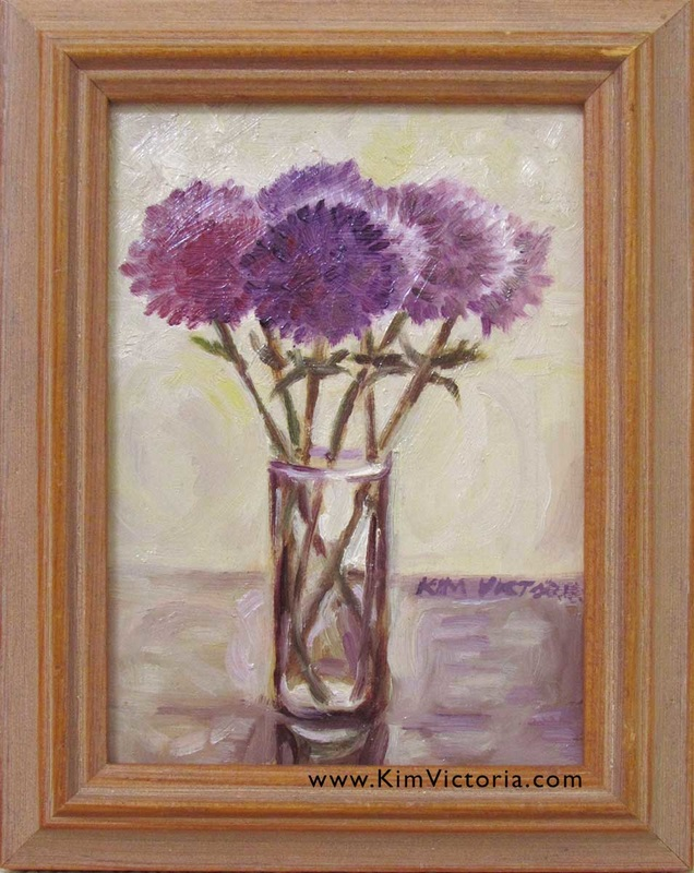 Oil painting Diamond Mums