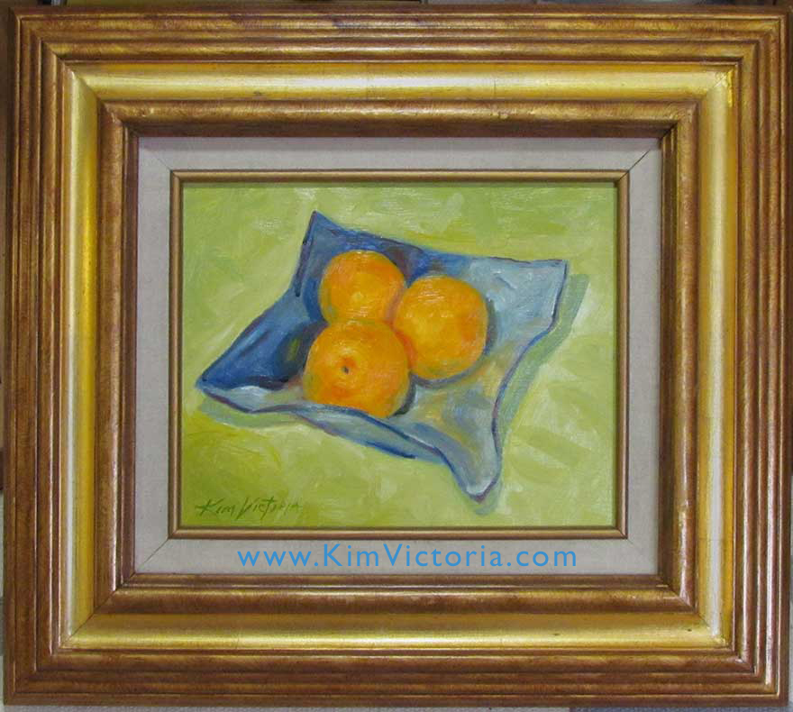 Oil painting Still Life Oranges