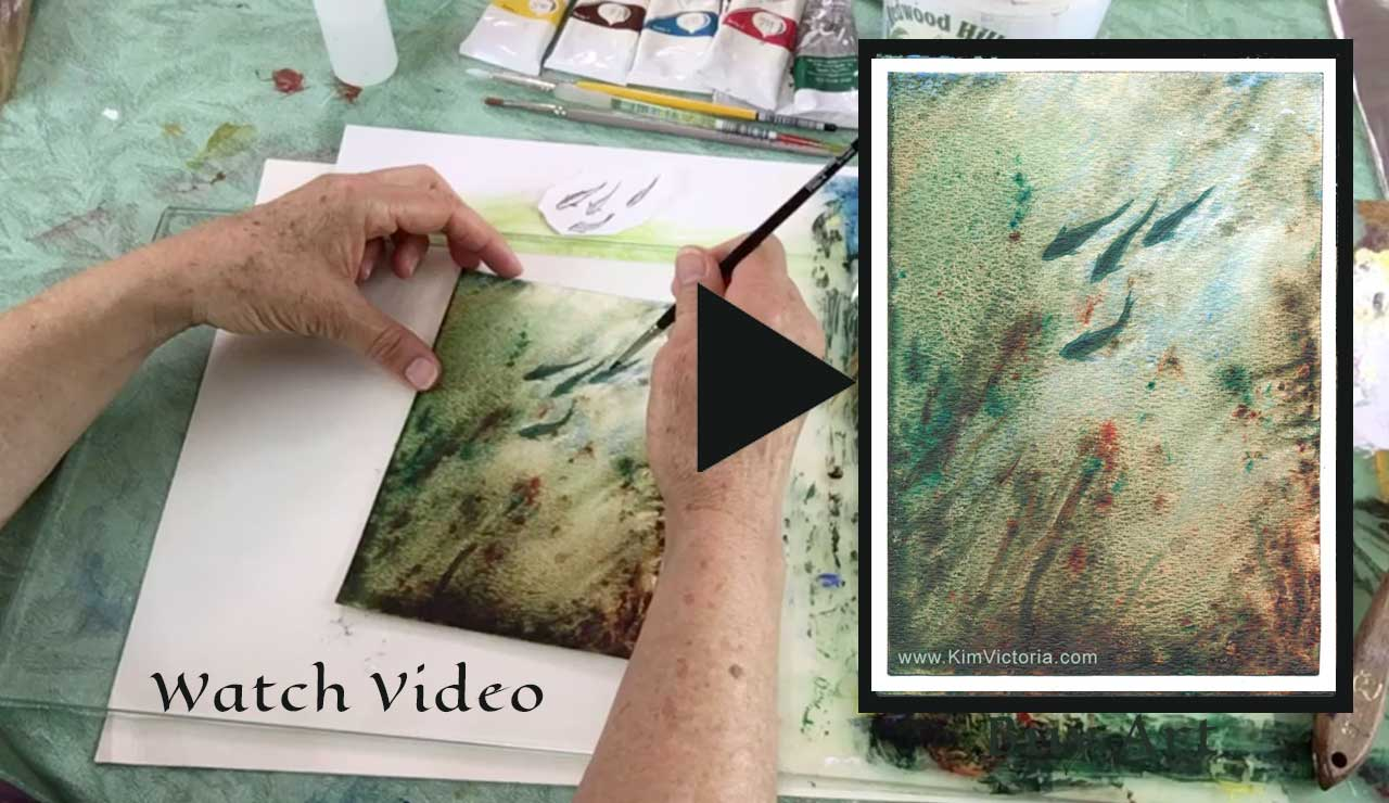 4 Fish Acrylic Painting demonstration video