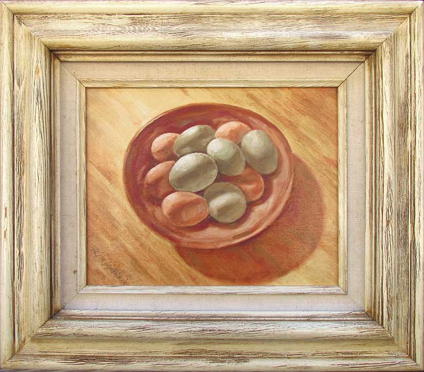 Oil painting Araucana Eggs