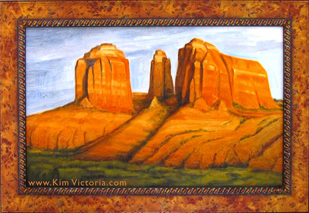 Oil painting Cathedral Rock