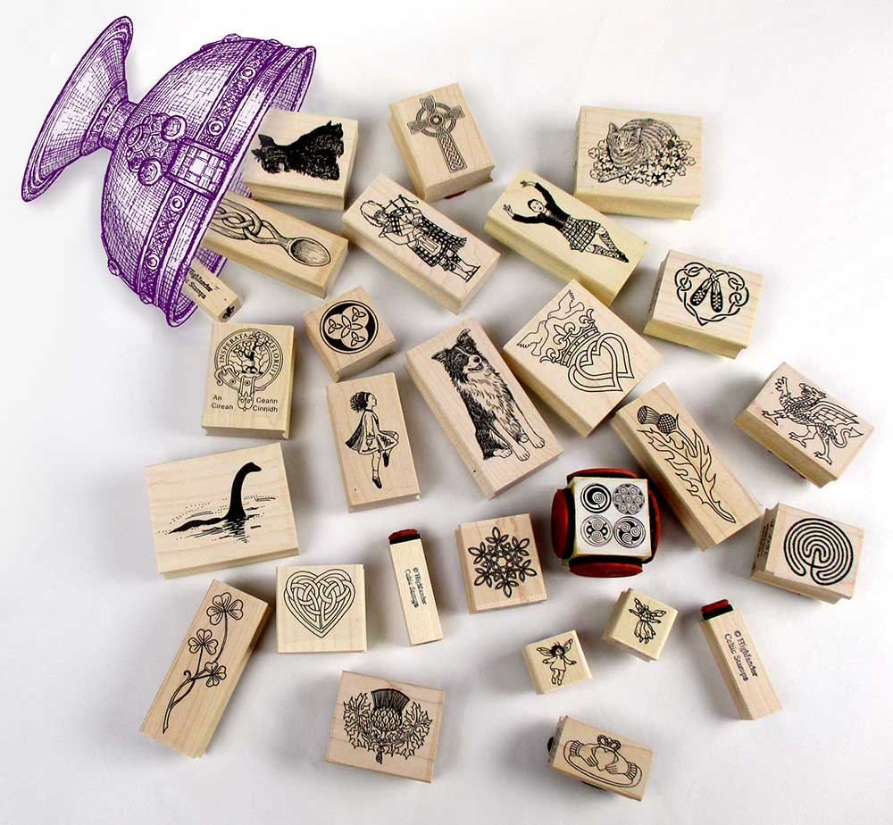 Mounted rubber stamps sampling