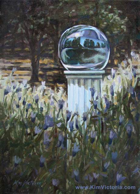 oil painting gazing ball