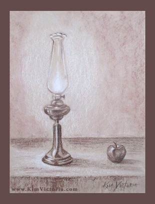 Teachers Oil Lamp drawing  by Kim Victoria