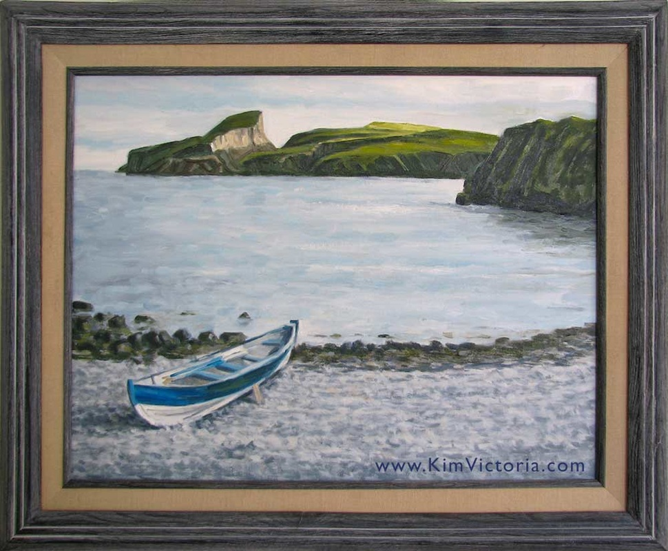 Oil painting Fair Isle Bay Boat