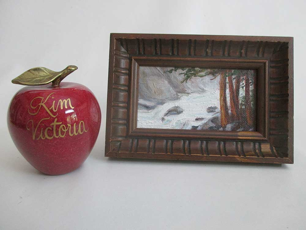 Yosemite Falls Mist miniature oil painting by Kim Victoria
