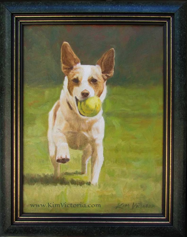 Oil painting Fetch by Kim Victoria