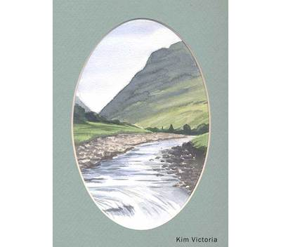 Glen Coe watercolor painting by Kim Victoria