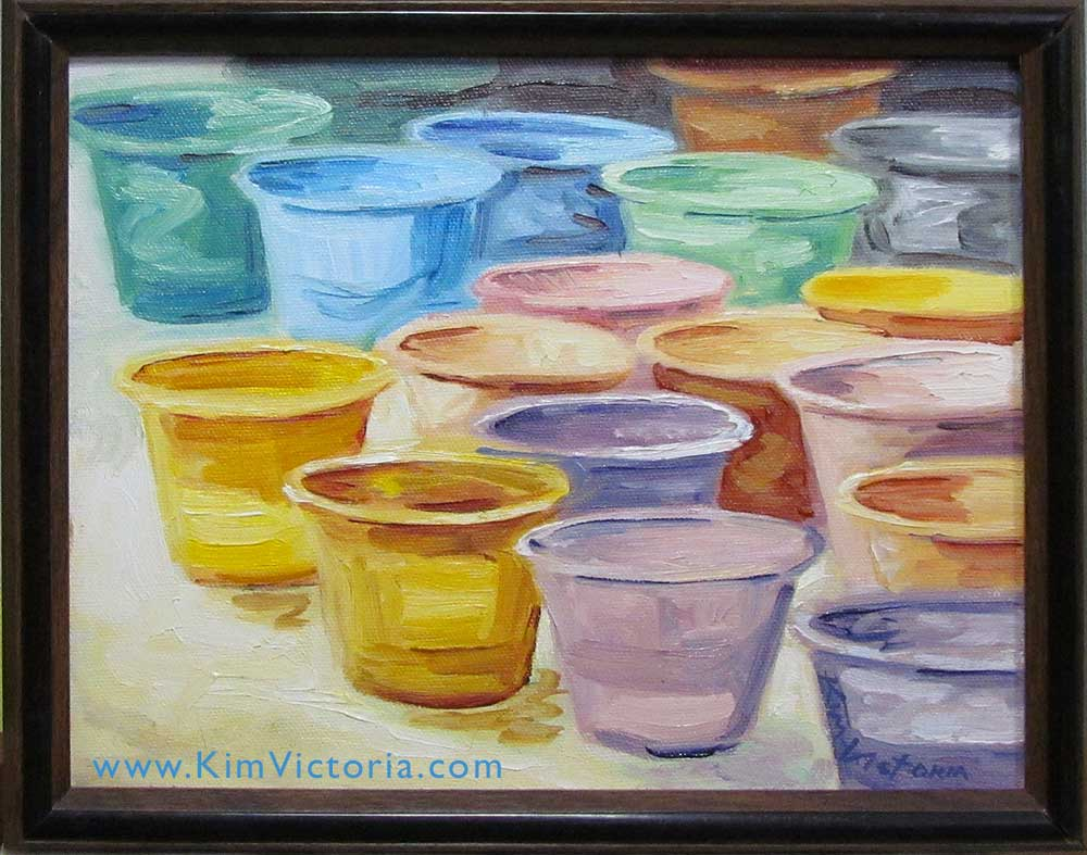 Oil painting Glaze Cups