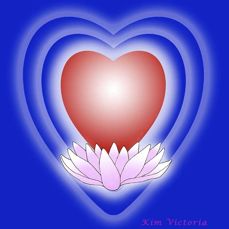 Lotus Heart illustration by Kim Victoria, for the article You Have An Emotional Energy System