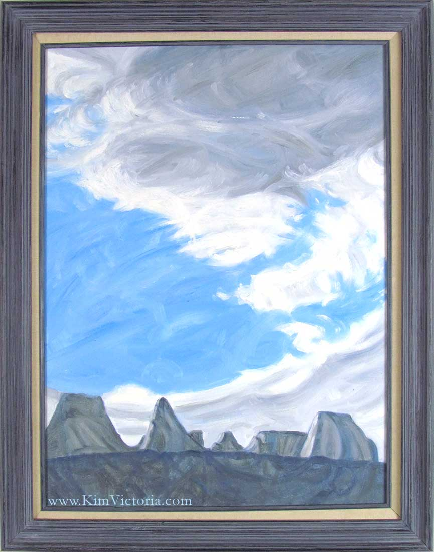 oil painting clouds over zion