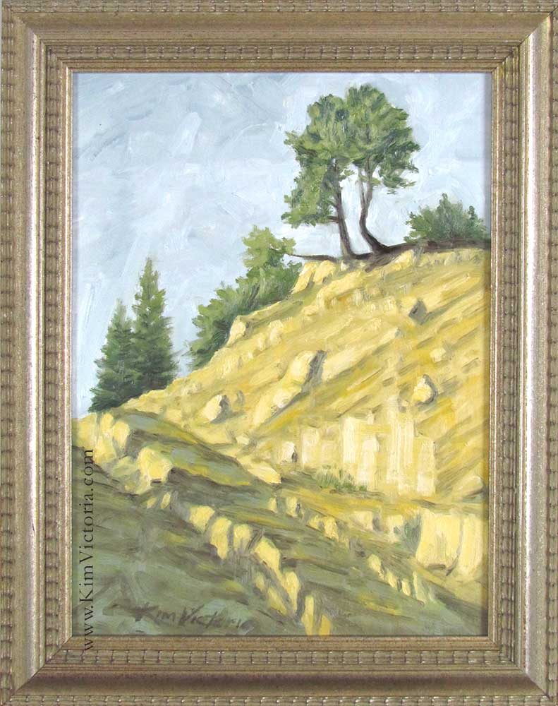 oil painting 2 Trees With a View