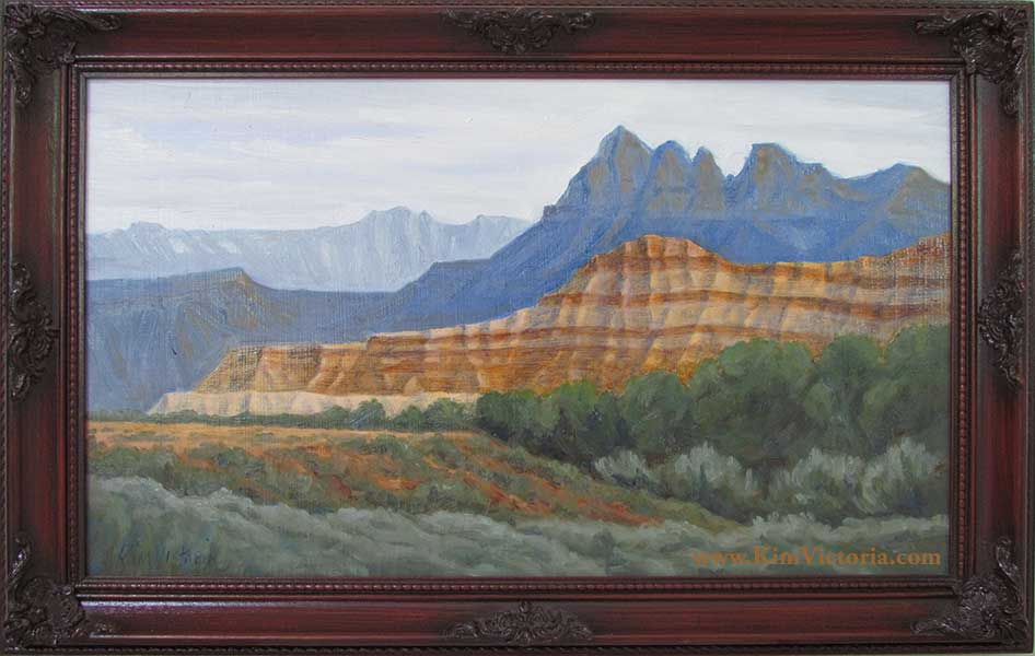 oil painting Layers in Sandstone