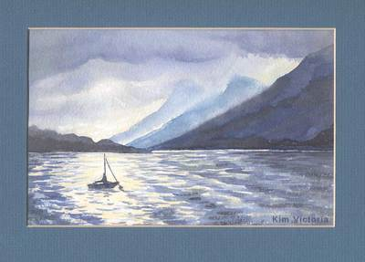 Loch Linnhe, Scotland, watercolor painting by Kim Victoria