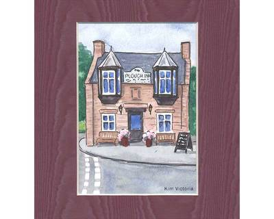 Scottish Pub watercolor painting by Kim Victoria