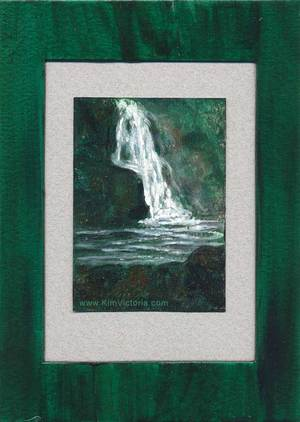 Waterfall acrylic mini painting