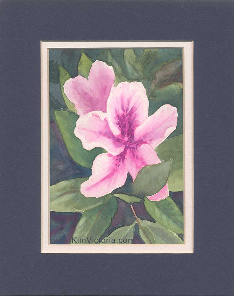 Rhododendron watercolor  by Kim Victoria