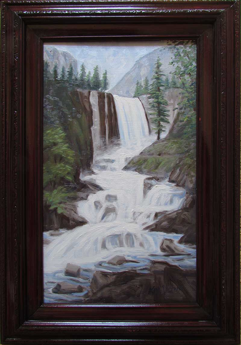 Yosemite Vernal Falls oil painting by Kim Victoria