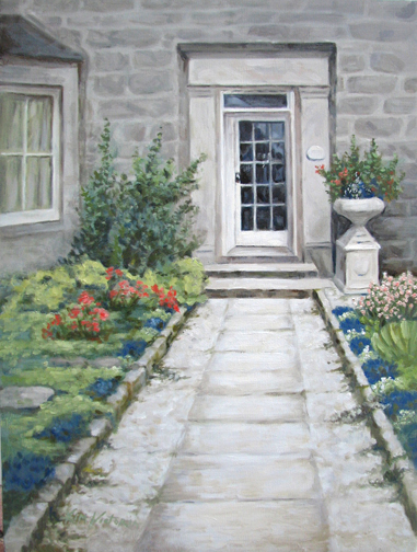 Oil painting Welcome Inn Nairn Scotland