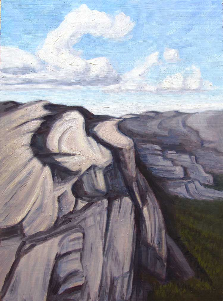 Yosemite Granite High Country View oil painting by Kim Victoria
